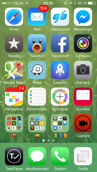 startskärm iphone