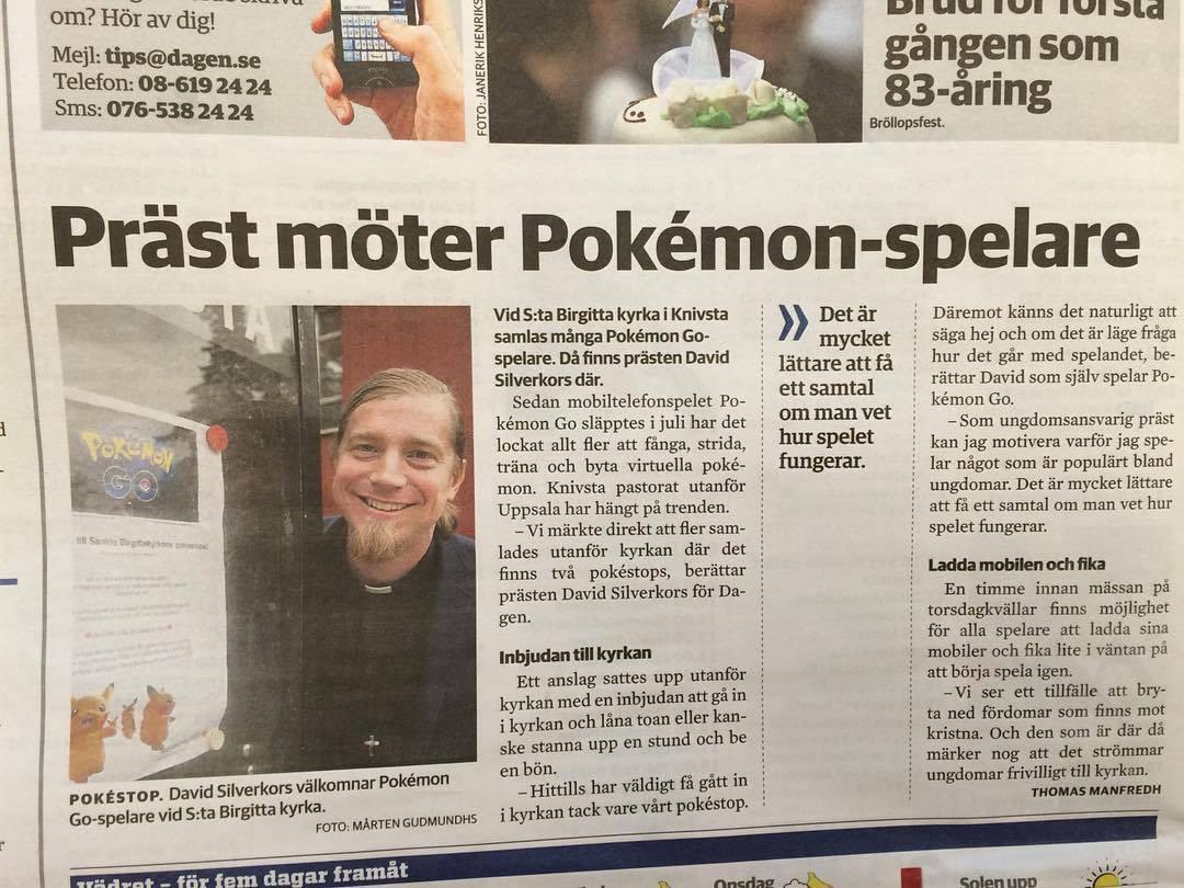 Präst möter Pokémon-spelare
